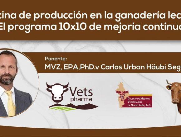 Medicina de producción en la ganadería lechera: El programa 10×10  de mejoría continua