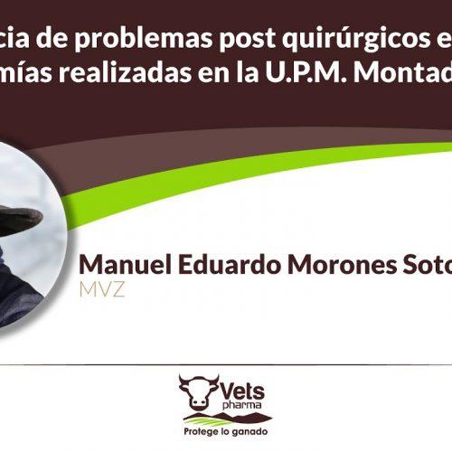 Incidencia de problemas post quirúrgicos en orquiectomías realizadas en la U.P.M. Montada